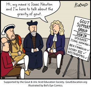 gout cartoon gravity of gout